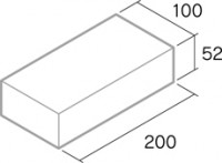 舗装用レンガ材「ファウスト」形状図