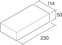 舗装用レンガ材「マフィンペイブ」形状図