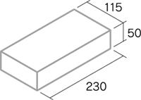 舗装用レンガ材「ウォリックペイブ」形状図
