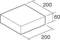 舗装用コンクリートブロック「ドットキューブ」形状図