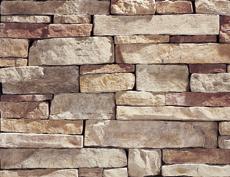 外装用擬石コンクリート製品「マウンテンレッジパネル」バックスキン