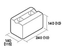 組積用コンクリートブロック「ムーンストーンR」基本横筋兼用型