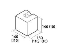 組積用コンクリートブロック「ムーンストーンR」1/2コーナー型
