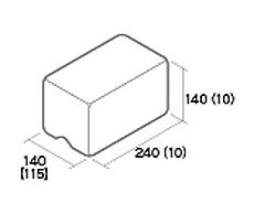組積用コンクリートブロック「ムーンストーンR」天端基本型