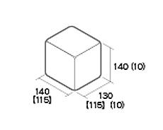 組積用コンクリートブロック「ムーンストーンR」1/2天端コーナー型