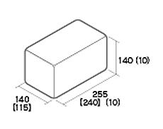 組積用コンクリートブロック「ムーンストーンR」天端コーナー型