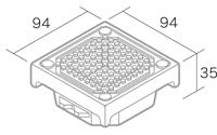 舗装用オプション「ソーラーペイブスリム」形状図