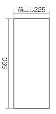 宅配ボックスコンボスリムタイプ側面形状図