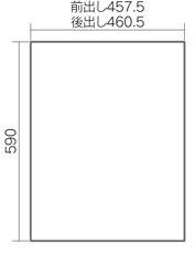 宅配ボックスコンボミドル・ハーフタイプ側面形状図