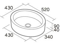 ラウンドパン形状図