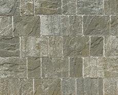 舗装用コンクリートブロック「カッシア」グリーン
