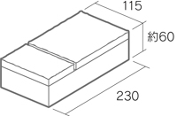 舗装用コンクリートブロック「カッシア」230