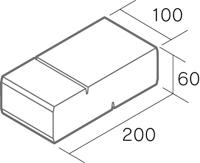 舗装用コンクリートブロック「シャロール」形状図