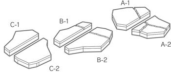 舗装用コンクリートブロック「ティーナ」コーナーパーツ