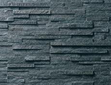 外装用天然石石材パネル「スマートストーン・スタック」ネオブラック