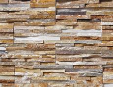 外装用天然石石材パネル「スマートストーン・スタック」スマートブラウン