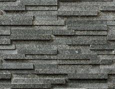 外装用天然石石材パネル「スマートストーン・スタック」スマートマイカブラック