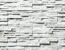 外装用天然石石材パネル「スマートストーン・スタック」スマートホワイト