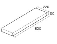 舗装用(枕木風)コンクリート製品「ボードノエル800