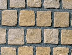 舗装用天然石材「ヨーガストーン」キューブ/サンドベージュ(砂岩)