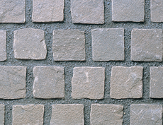 舗装用天然石材「ヨーガストーン」キューブ/サンドパープル(砂岩)