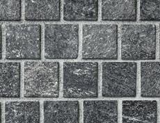 舗装用天然石材「フェアリーストーン」ラフキューブ/スマートブラック