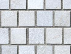 舗装用天然石材「フェアリーストーン」ラフキューブ/スマートフホワイト
