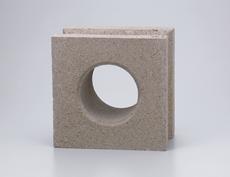 組積用コンクリートブロックオプション「ガラスブロック」セルクル_sepia