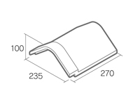 組積用コンクリートブロック「オオヤ ファイブ」三角冠平(基本)
