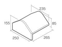 組積用コンクリートブロック「オオヤ ファイブ」三角冠止(B)