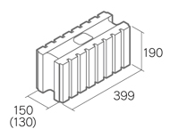組積用コンクリートブロック「グレイス12/15」1501