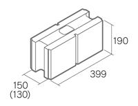 組積用コンクリートブロック「グレイス12/15」1503