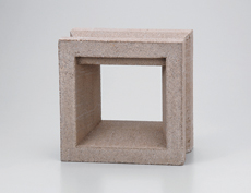 組積用コンクリートブロックオプション「ガラスブロック」カレ_beige