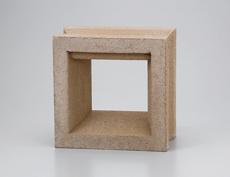 組積用コンクリートブロックオプション「ガラスブロック」カレ_ocher