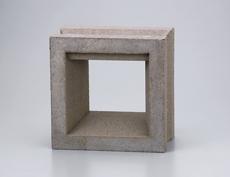 組積用コンクリートブロックオプション「ガラスブロック」カレ_sepia