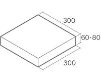 舗装用コンクリートブロック「ノーマルインター」W6-3030/W8-3030