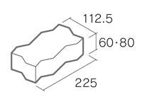 舗装用コンクリートブロック「ノーマルインター」S6-N1/S8-N1
