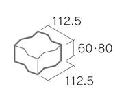 舗装用コンクリートブロック「ノーマルインター」S6-N2/S8-N2