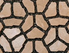 舗装用コンクリートブロック「ナティア」ベージュ