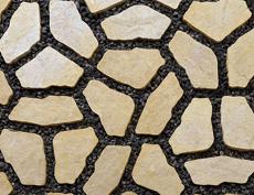 舗装用コンクリートブロック「ナティア」イエロー
