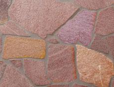 舗装用天然石材「セルバストーン クレイギー」ラスタコーラル
