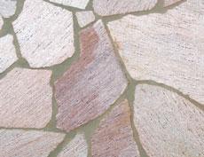 舗装用天然石材「セルバストーン クレイギー」ラスタホワイトローズ
