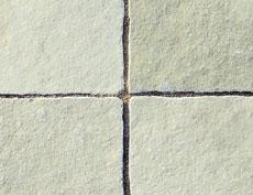 舗装用天然石材「ヨーガストーン」ラフスクエア・ライムグリーン