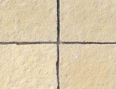 舗装用天然石材「ヨーガストーン」ラフスクエア・ライムイエロー