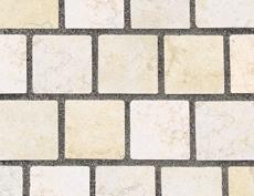 舗装用天然石材「フェアリーストーン」キューブ/ファインベージュ