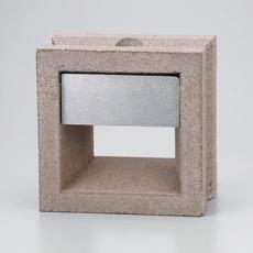 組積用コンクリートブロックオプション「スケルキューブライト」ベージュ