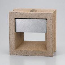 組積用コンクリートブロックオプション「スケルキューブライト」オーカー