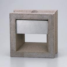 組積用コンクリートブロックオプション「スケルキューブライト」セピア