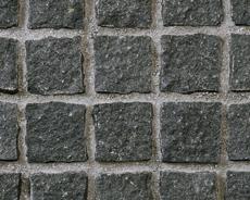 舗装用天然石材「トラッドストーン」小舗石中国産黒みかげ