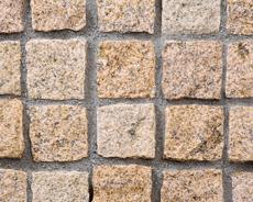 舗装用天然石材「トラッドストーン」小舗石中国産サビ